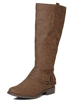 Extra Wide Fit Buckle Detail Long Boot