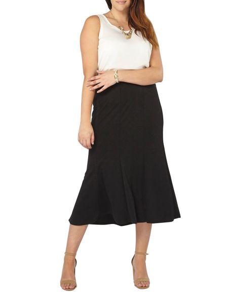 Evans Black Fit And Flare Skirt