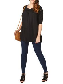 Evans Black Lace Tunic