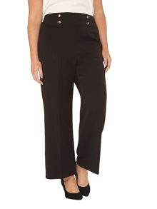 Evans High-Waisted Wide Leg Trousers