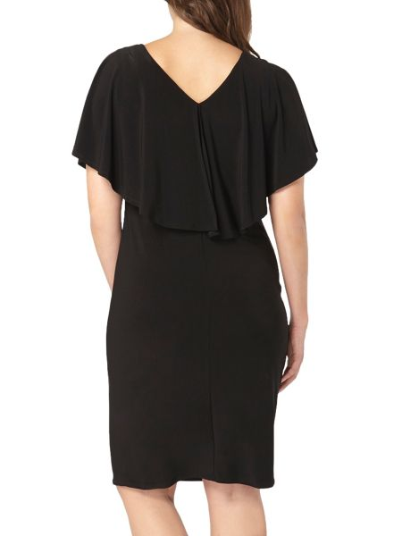Evans Black Overlay Midi Dress