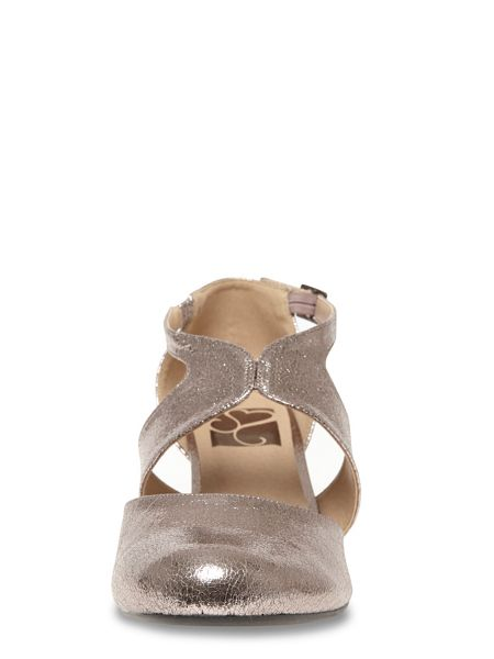 Evans Extra Wide Fit Metallic Cut Out Heel