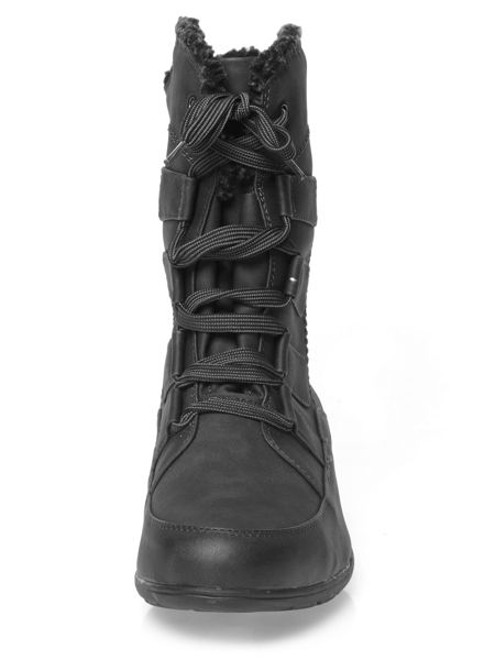 Evans Extra Wide Fit Black Laceup Winter Boot