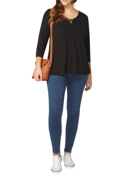 Evans Black 3/4 Sleeve Top