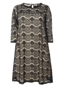 Evans Black and white lace dress