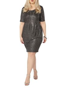 Evans Black glitter pocket dress