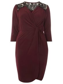Evans Purple Hourglass Wrap Dress