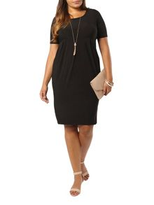 Evans Black Pocket Jersey Dress