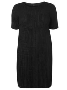 Evans Black pleated Tunic