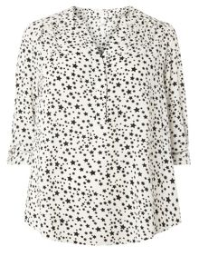 Evans Black and White Star Shirt