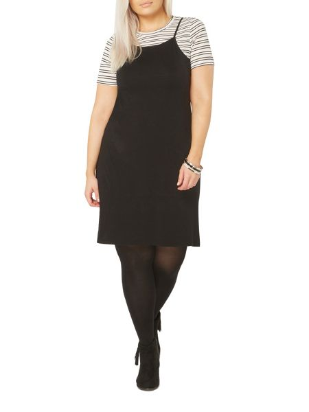 Evans Black and White 2-In-1 Dress