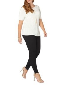 Evans Ivory pleated top