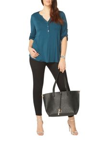 Evans Teal long sleeve jersey shirt