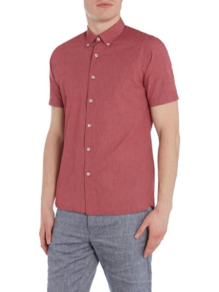Peter Werth Academy Micro Grid Check Cotton Shirt