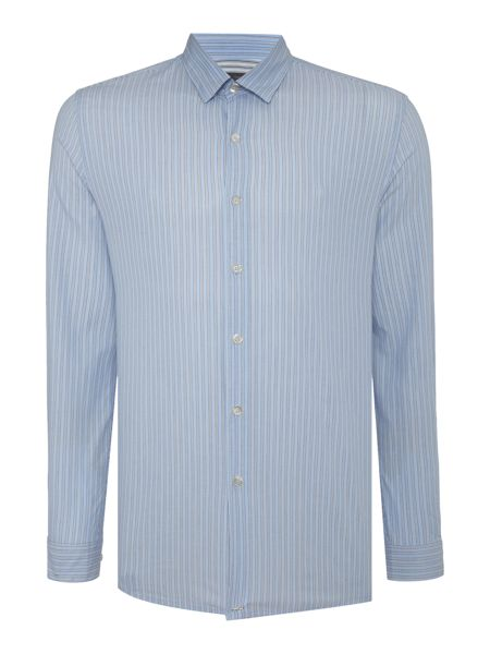 Peter Werth Shadow Vertical Stripe Cotton Shirt