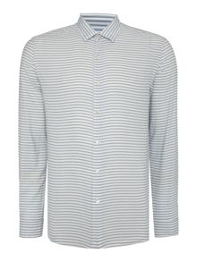 Peter Werth Light Horizontal Stripe Cotton Shirt