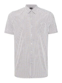 Lowery Turner Invader Print Shirt White