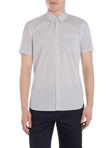 Peter Werth Lowery Turner Invader Print Shirt White