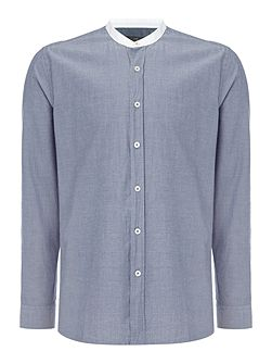 Edwin Pin Dot Shirt with Grandad Collar