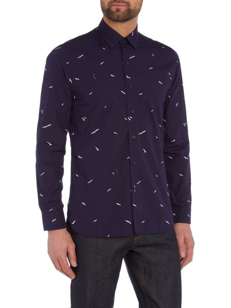Peter Werth Gallery Seagull Print Cotton Shirt