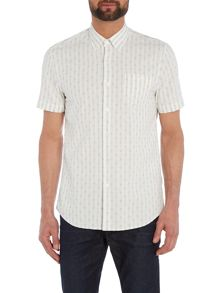 Peter Werth Bowery Dot Stripe Shirt