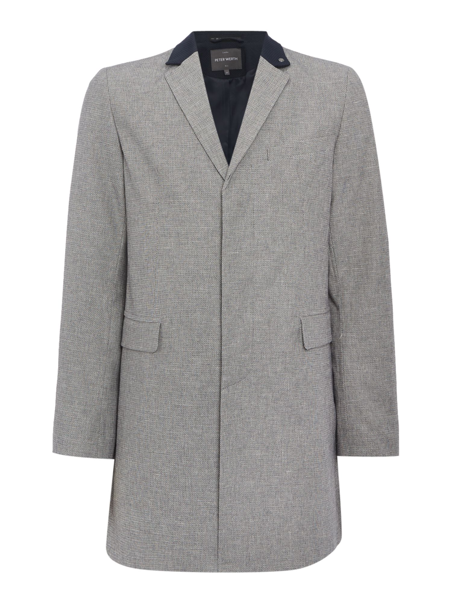 Men's Vintage Style Coats and Jackets Mens Peter Werth Cropley Marble Textured London Topcoat £139.00 AT vintagedancer.com