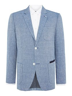 Jones Patch Pocket Linen & Wool Blazer