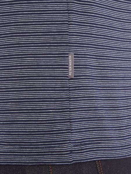 Peter Werth Vista Fine Stripe Cotton Polo Shirt