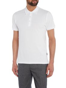 Peter Werth Baran Bubble Stitch Cotton Polo Shirt