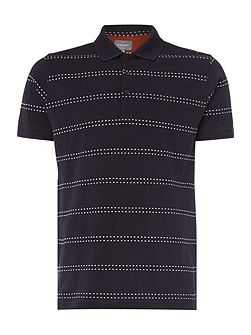 Ellsworth Dot Stripe Cotton Polo Shirt