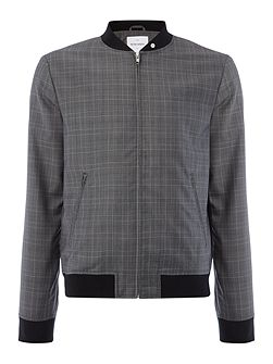 Rogers Wool Mix Check Bomber Jacket