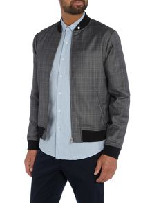 Peter Werth Rogers Wool Mix Check Bomber Jacket