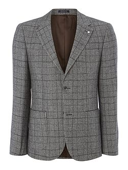 Haviland Wool Mix Check Blazer
