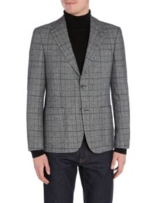 Peter Werth Haviland Wool Mix Check Blazer