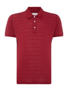 Peter Werth Literacy Textured Stripe Jersey Polo