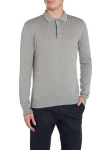 Peter Werth Cristo Twin Tipped Knitted Cotton Polo