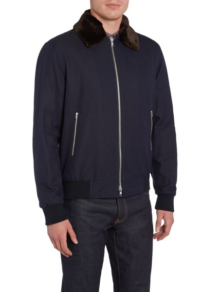 Peter Werth Line Up Jacket With Faux Fur Trim
