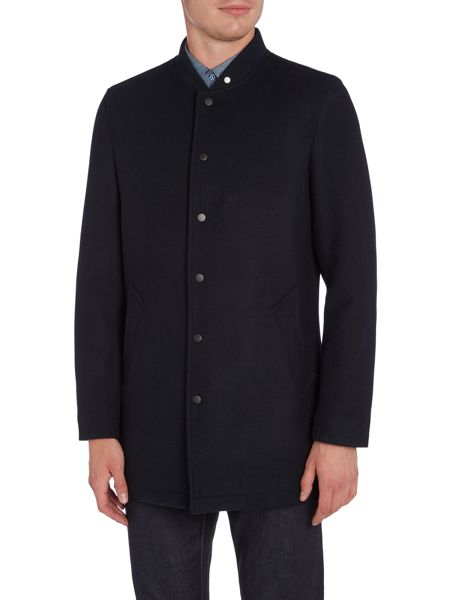 Peter Werth Target Wool Mix Mid-Length Bomber Jacket