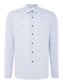 Ripple Printed Cotton Mix Shirt