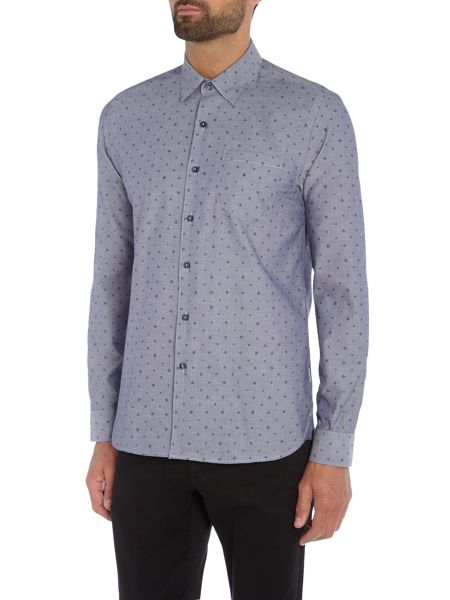 Peter Werth Jackman Box Dash Printed Oxford Shirt