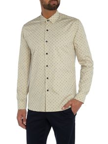 Peter Werth Bembridge Micro Leaf Cotton Shirt