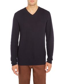Peter Werth Moore Zig-Zag Knitted Cotton Jumper
