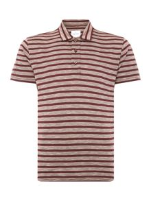 Peter Werth Legacy Twin Stripe Jersey Polo Shirt