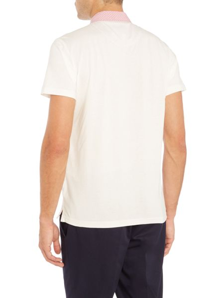 Peter Werth Lucien Polo Shirt With Printed Collar