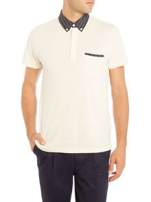 Peter Werth Bridge Polo Shirt With Stripe Collar