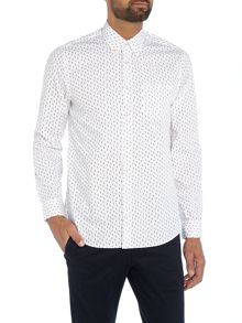 Peter Werth Morse Geometric Printed Cotton Shirt