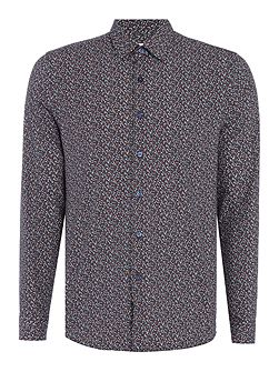 Alfa Micro Floral Printed Cotton Shirt