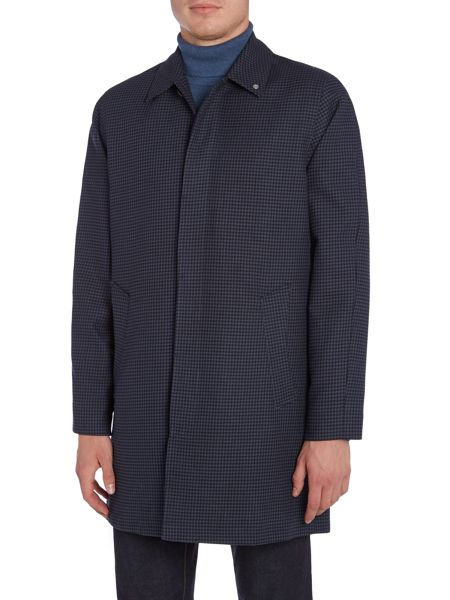 Peter Werth Twyford Hudson Houndstooth Cotton Mac