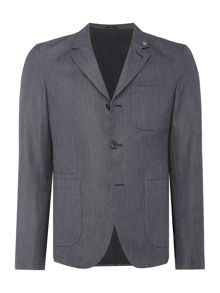 Peter Werth Stoker Cotton Striped Workwear Blazer