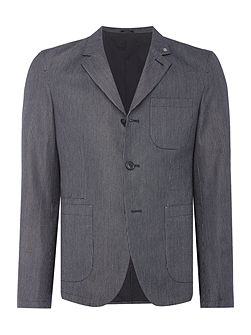 Stoker Cotton Striped Workwear Blazer
